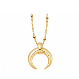 GOLD LARGE HORN NECKLACE