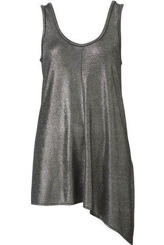 WITCHERY Metallic Scoop Tank Top Size L