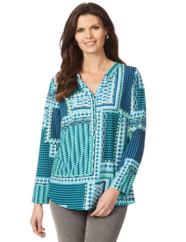 W.LANE Patchwork Geo Tunic Top Size S & M