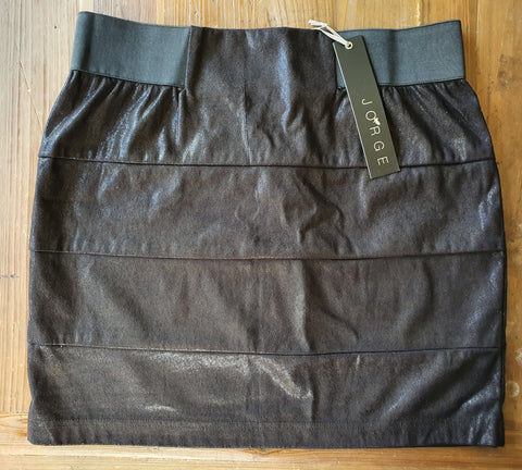JORGE Genevieve Panel Charcoal Skirt Size 10 & 12 - RRP $59.95