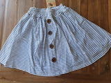 JUST ADD SUGAR Button Front Blue Stripe Skirt Size S