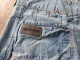 JUST ADD SUGAR Blue Denim Mini Skirt Size 12 - RRP $59.95