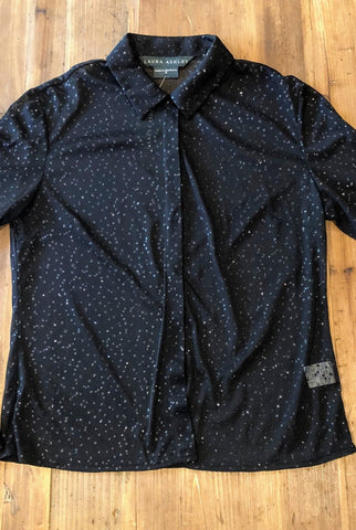 LAURA ASHLEY Black Shirt Size 12 - RRP $129