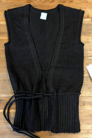 CHROANIC Laila Black Sleeveless Cardigan Size Sml