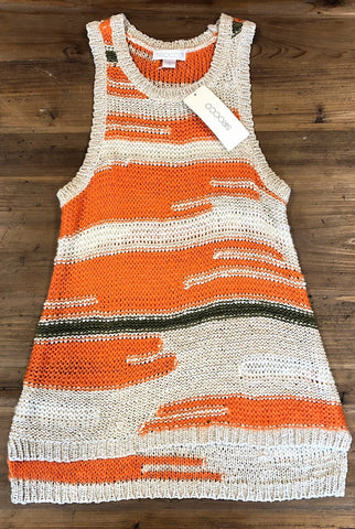 SIROCCO Multi Stripe Tape Yarn Tank Size Sml