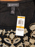 INC INTERNATIONAL CONCEPTS WOMAN Black & Gold Top Size 3X
