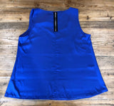 POSTIE Sleeveless Blue Top Size 14