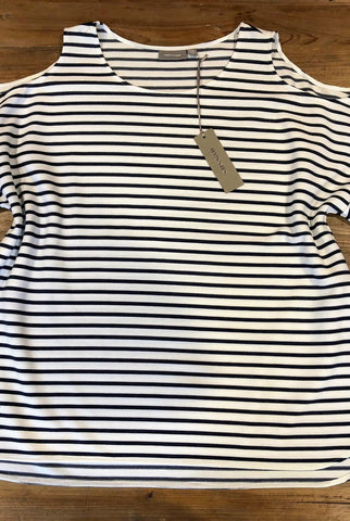 SUSSAN Best Navy Striped Top Size XXL