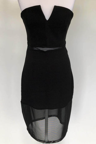 ATMOS & HERE Mandy Strapless Dress Black Size 12