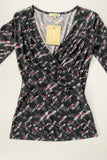 LAURA ASHLEY Black Top Size 6