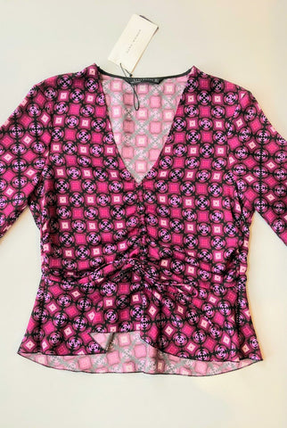ZARA WOMAN Pink Pattern Shirt Size M