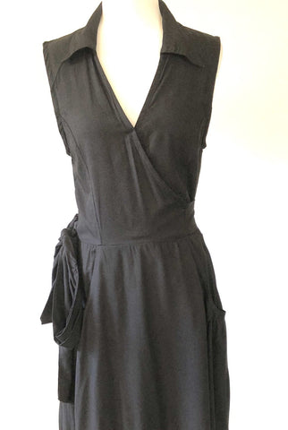 TOTEM Black Wrap Dress, Size L
