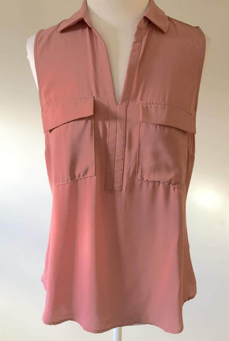TOKITO Pink Sleeveless Shirt, Size 10