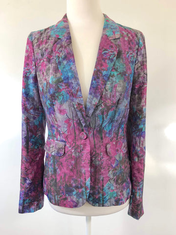 JUST JEANS Limited Edition Multi Colour Jacket Size 8
