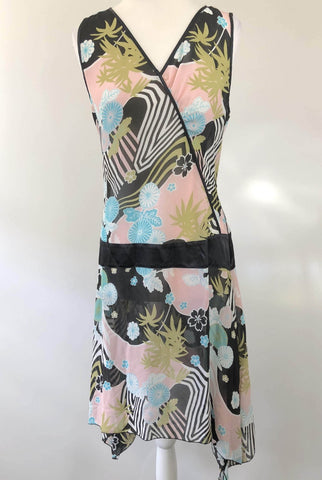 JEANSWEST Tropical Print Dress Size 14