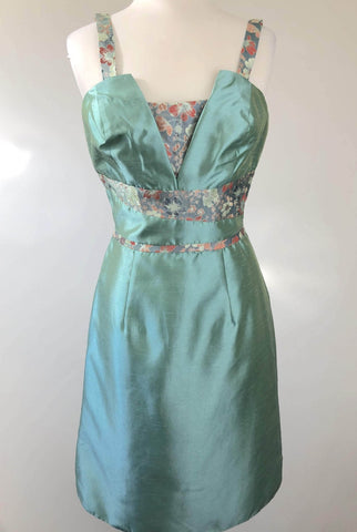EMBRACE Cyan Oriental Inspired Dress Size 10