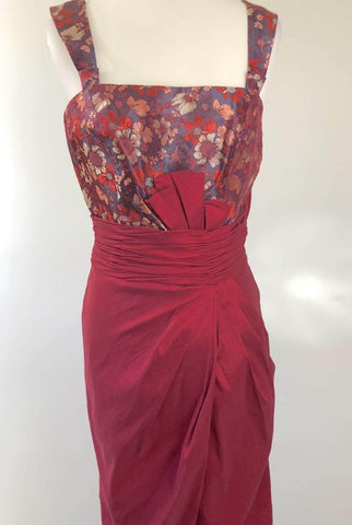 EMBRACE Crimson Oriental Inspired Dress Size 10