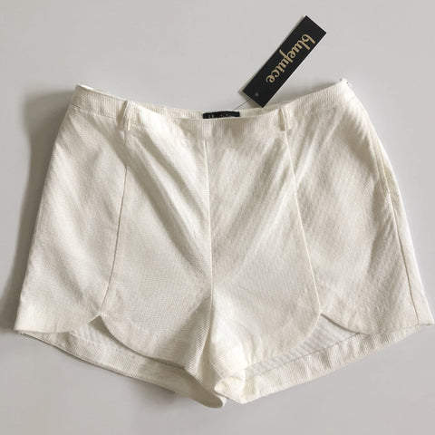 BLUEJUICE White High Waist Shorts Size 8, 10 & 12