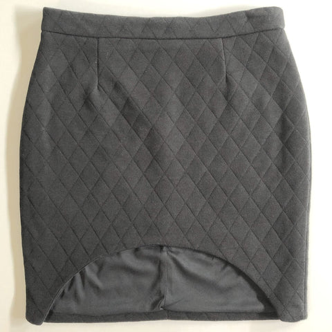 IMONNI Black or Grey Quilted Skirt Size 10