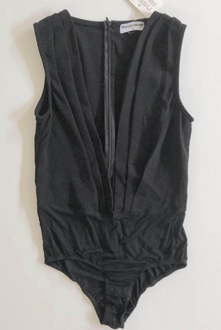 MADISON SQUARE Black Sleeveless Bodysuit Top Size S, M & L