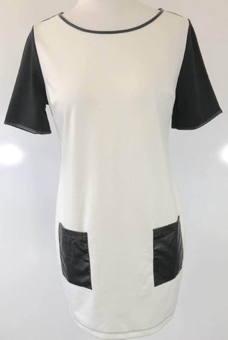 DOROTHY PERKINS Black and White Tee Dress Size 10