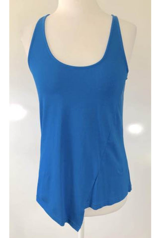 LOLA VS HARPER Blue Asymmetrical Tank Top Size S, M & L