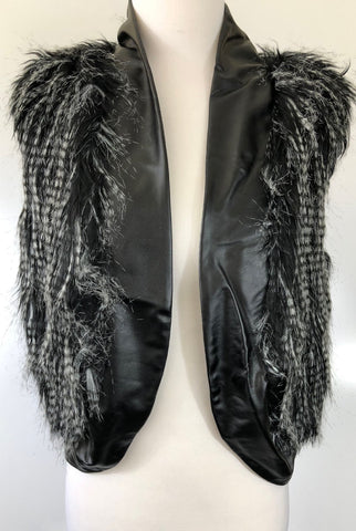 JY FASHION Faux Fur Vest Jacket Size 10 & 12