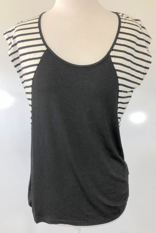 SHILLA THE LABEL 'Dawn Stripe Mix Tee' Top Size S, M & L