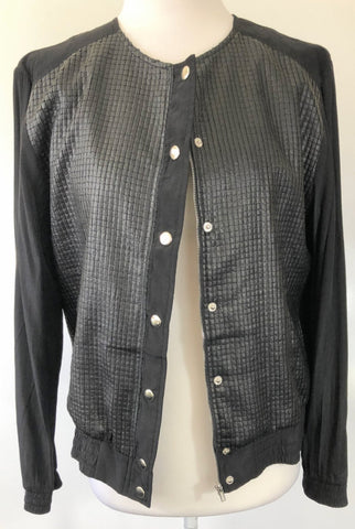 SHILLA THE LABEL 'Dawn Vegan Leather Mix Bomber' Jacket Size S, M & L