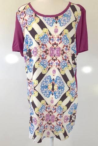 SHILLA THE LABEL 'Dawn Floral Mix Tee' Dress Size XS, S & M
