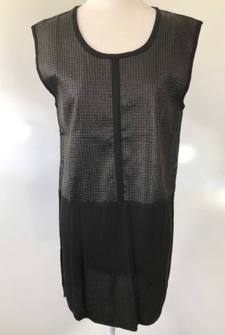 SHILLA THE LABEL 'Dawn Vegan Leather Mix' Dress Size XS, S, M & L