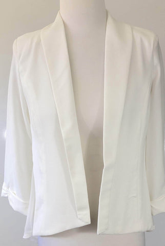 MADISON SQUARE White or Mint Green Sheer Back Jacket Size XS, S, M & L