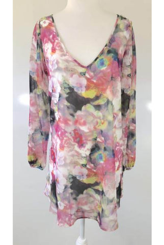 BLUEJUICE Floral Long Sleeve Dress Size 8, 10 & 12 - RRP $99.95