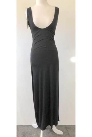 MADISON SQUARE Black or Grey Double Side Split Dress Size S, M & L