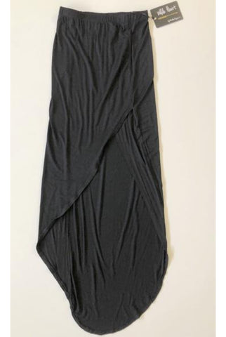 WILDE HEART by Madison Square Black Long Split Skirt Size 6, 8, 10 & 12