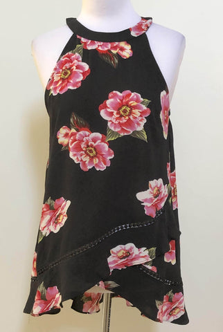 AJOY Floral Printed Halter Top Size 10, 12 & 14