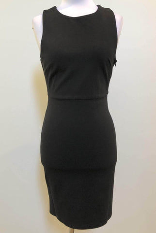 LEVORA Black Cross Over Fitted Dress Size 10, 12 & 14