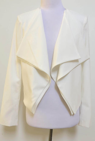 3RD LOVE White Open Jacket Size 10, 12 & 14