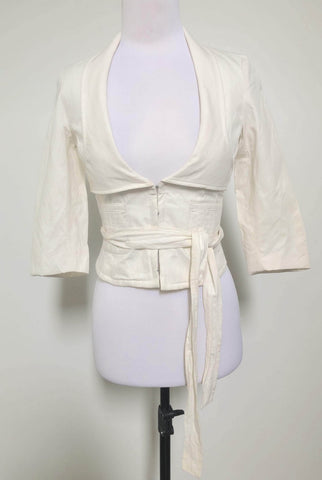 KOOKAI Cream Misty Jacket Size 8