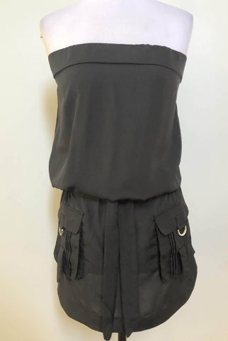 JUST ADD SUGAR Black Smitten Tube Dress Size 10, 12 & 14