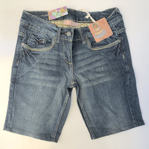 JUST ADD SUGAR Blue Relaxed Pocket Denim Shorts Size 8, 10, 12, 14, & 16