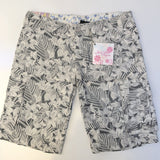 JUST ADD SUGAR Latte Cream Floral Shorts Size 10
