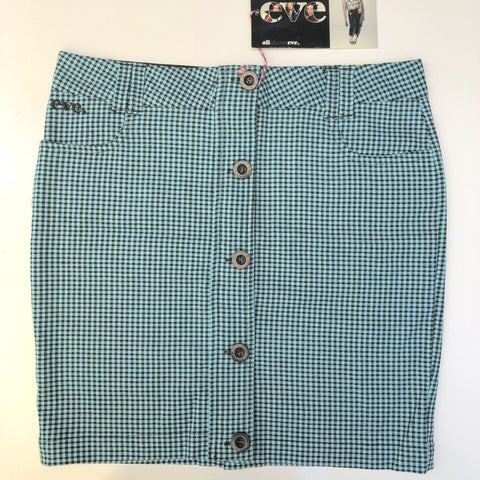 ALL ABOUT EVE Aqua Check Skirt Size 10
