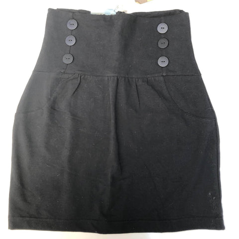 JUST ADD SUGAR Black Fitted Skirt Size S