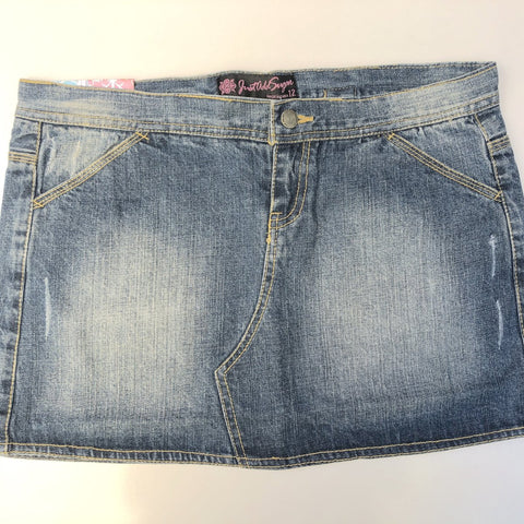 JUST ADD SUGAR Blue Denim Skirt Size 10, 12 & 14