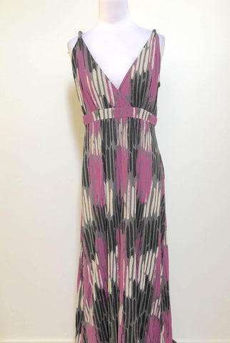 AYVA Purple Print Maxi Dress Size 10, 12 & 14