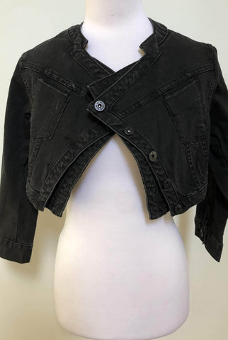 JORGE Washed Black Day & Night Crop Jacket Size 8, 12 & 14