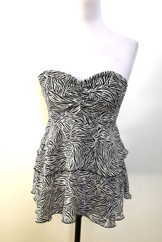 ALL ABOUT EVE Zebra Lauper Top Size 10