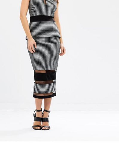 LUMIER 'Draw The Line' Midi Skirt Size 6