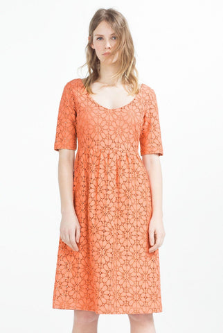 Zara Basic Orange Dress Size Sml